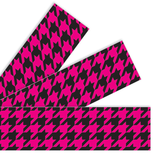 T85168 Border Trimmer Houndstooth Pink