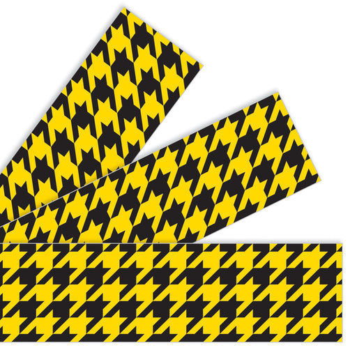 T85169 Border Trimmer Houndstooth Yellow