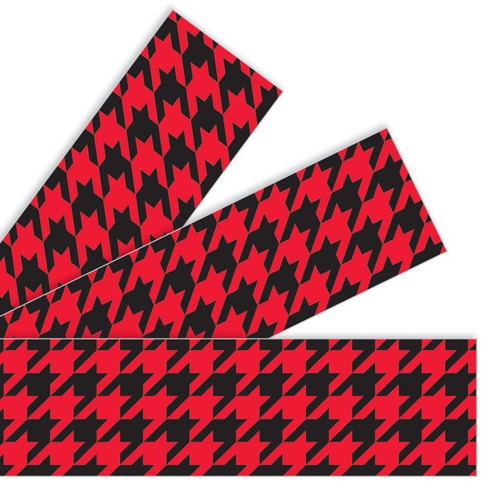 T85198 Border Trimmer Houndstooth Red