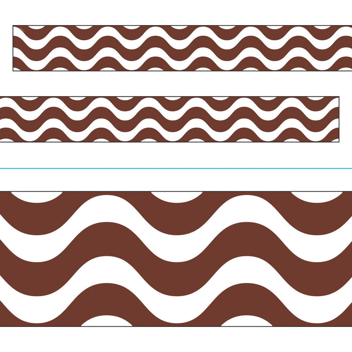 T85337 Border Trimmer Wavy Chocolate