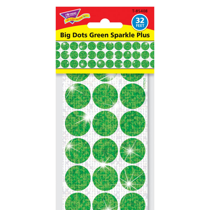 T85408 Border Trimmer Sparkle Big Dots Green Package