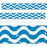 T85411 Border Trimmer Sparkle Wavy Blue