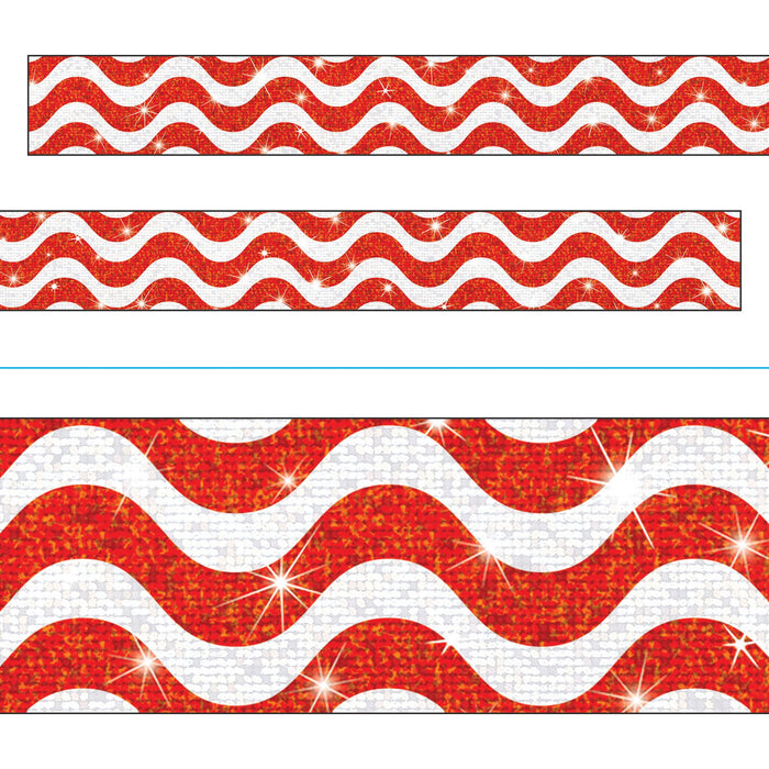 T85415 Border Trimmer Sparkle Wavy Red