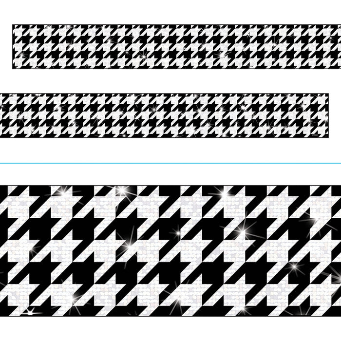 T85423 Border Trimmer Sparkle Houndstooth