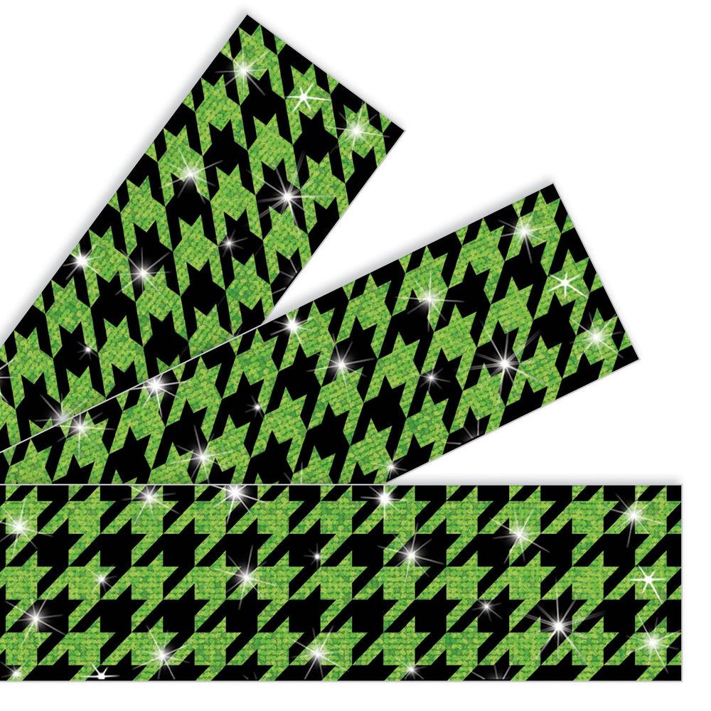 T85426 Border Trimmer Sparkle Houndstooth Green