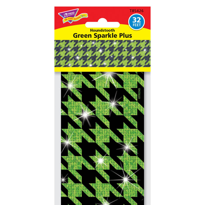 T85426 Border Trimmer Sparkle Houndstooth Green Package
