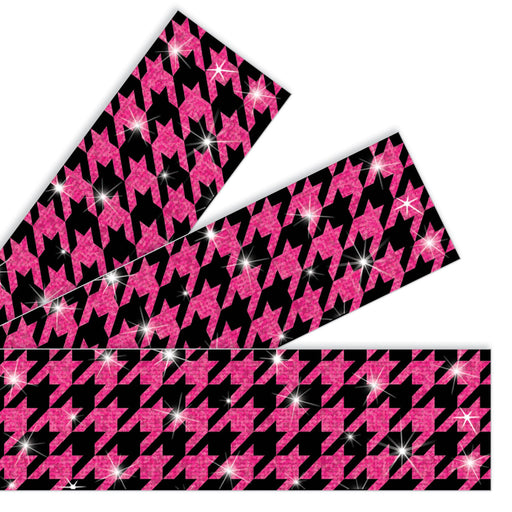 T85427 Border Trimmer Sparkle Houndstooth Pink