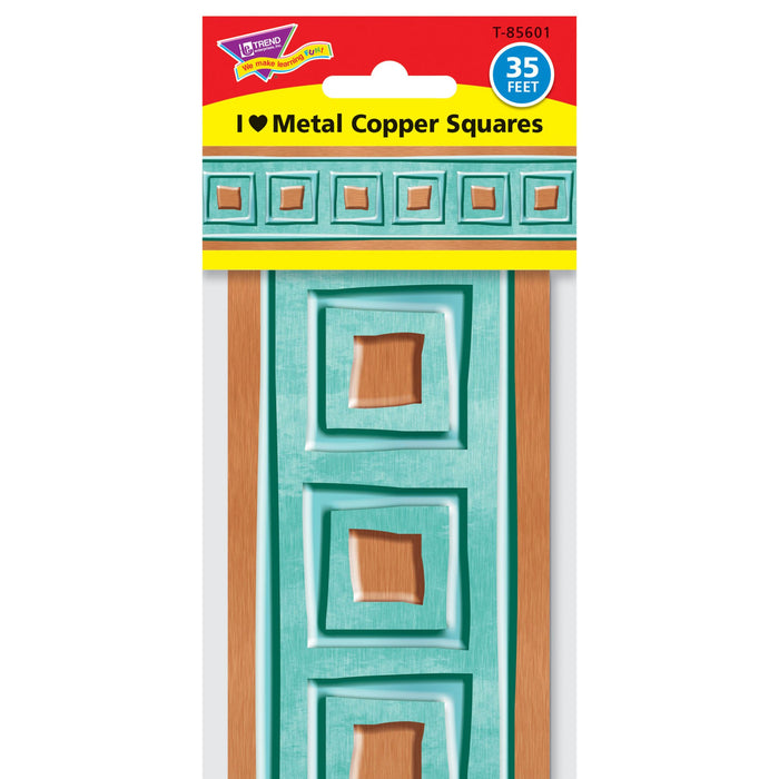 T85601 Border Trimmer Metal Copper Squares Package