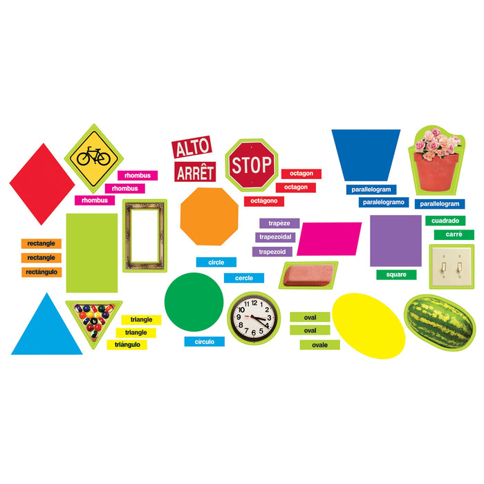 T8708 Bulletin Board Geometric Shapes