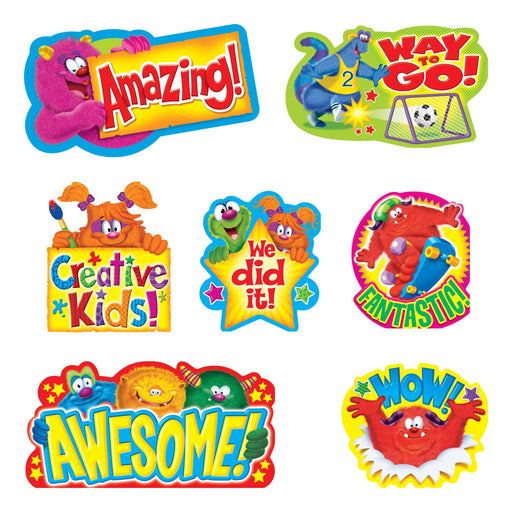 T8736 Bulletin Board Furry Monster Friends Words