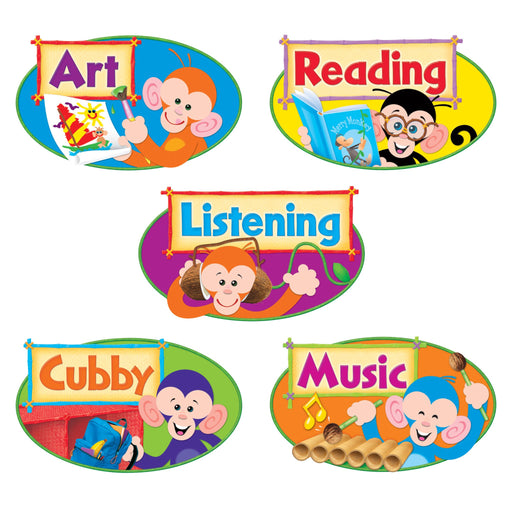 Monkey Mischief® Primary Center Signs Mini Bulletin Board Set