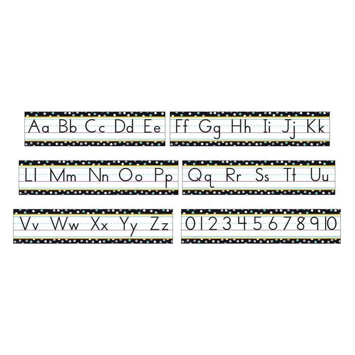 T8771 Bulletin Board Metal Manuscript Alphabet Line
