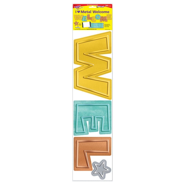 T8772 Bulletin Board Metal Wipe Off Welcome Package