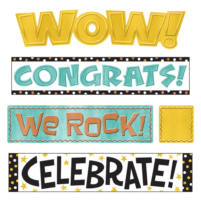 T8773 Bulletin Board Metal Wipe Off Celebration Signs