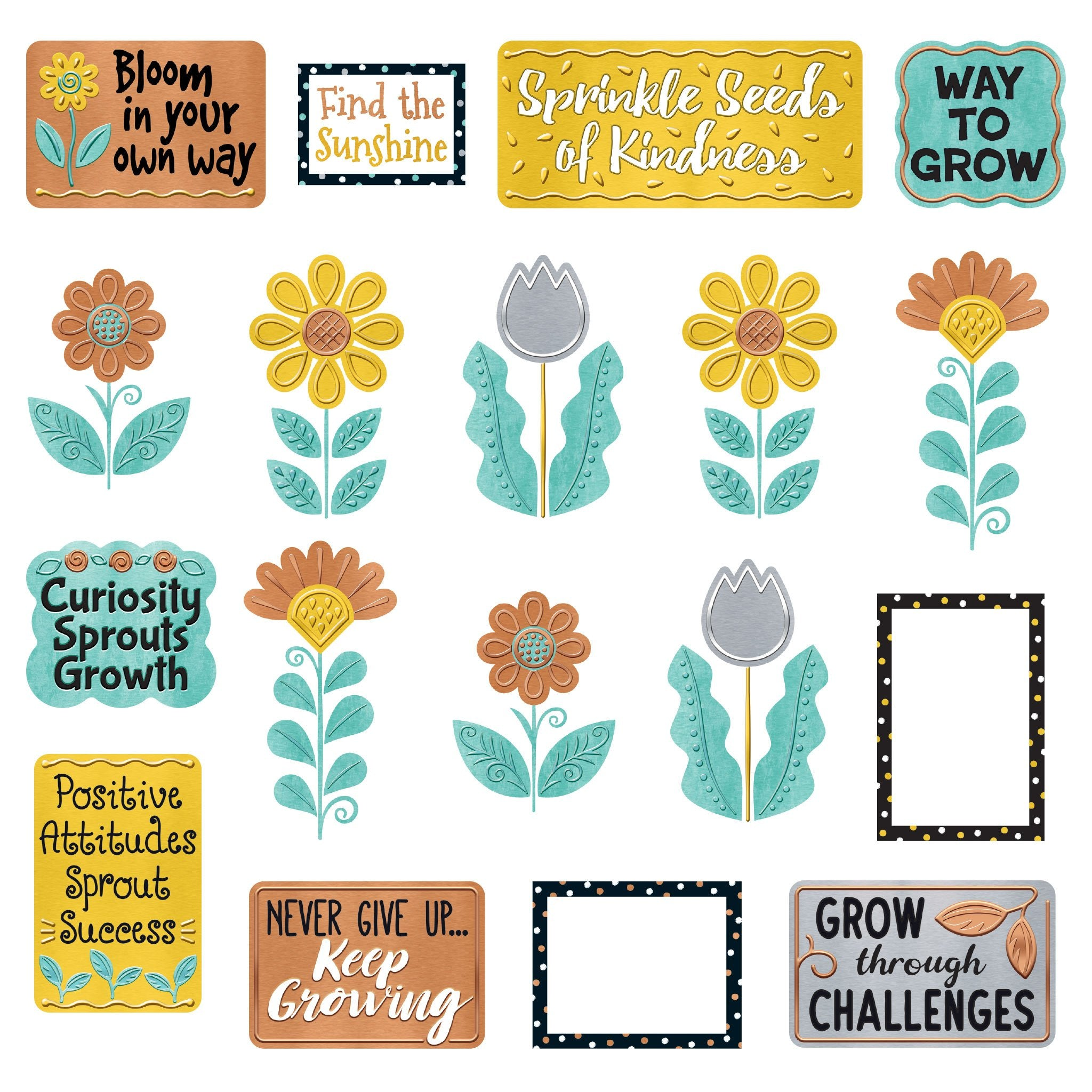 I ♥ Metal™ Grow for It! Mini Bulletin Board Set