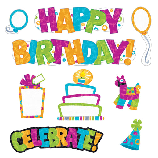T8781 Bulletin Board Harmony Wipe Off Birthday