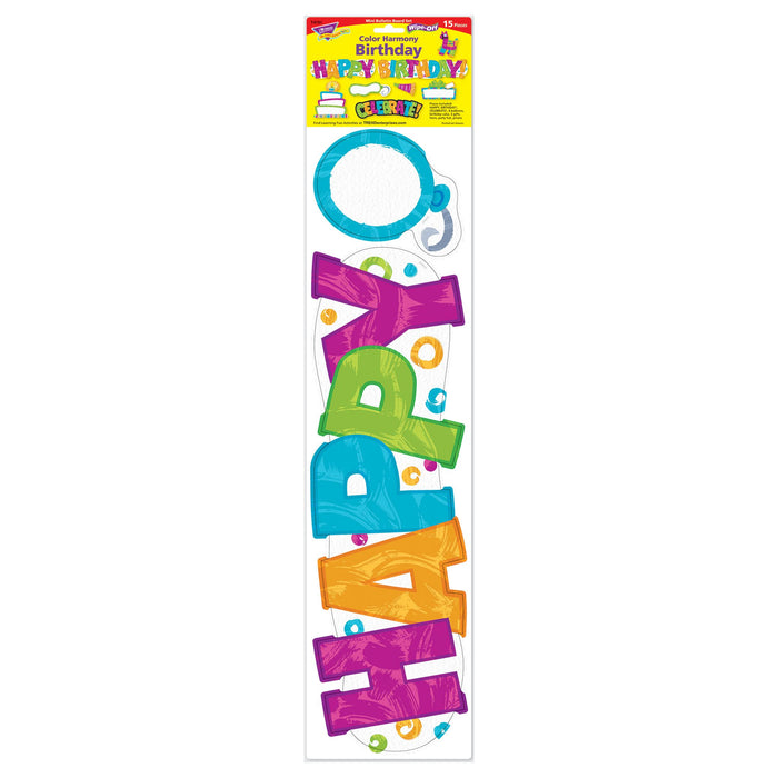 T8781 Bulletin Board Harmony Wipe Off Birthday Package