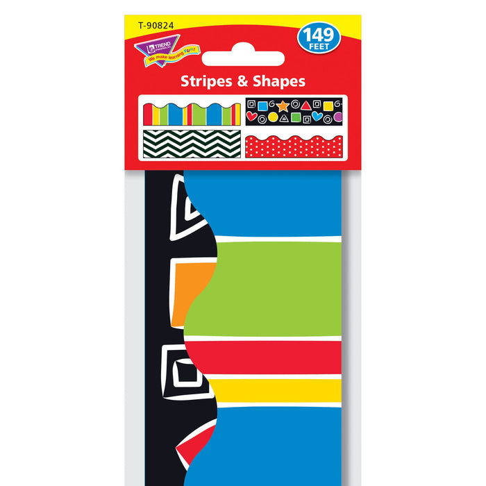 T90824 Border Trimmer 4 Pack Stripes Shapes Package