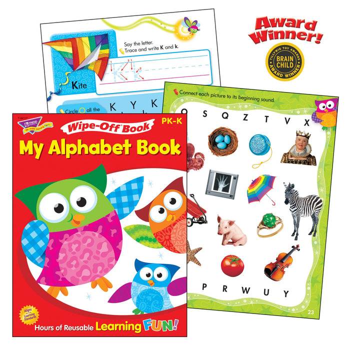 T90879 Learning Fun Pack Wipe Off Book Alphabet