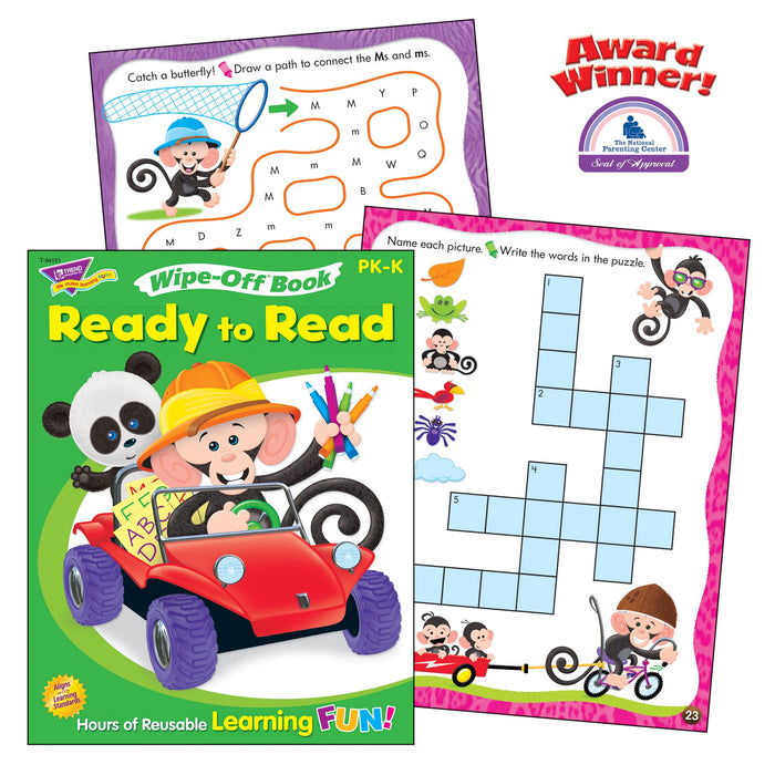 T90880 Learning Fun Pack Wipe Off Book Early Reading