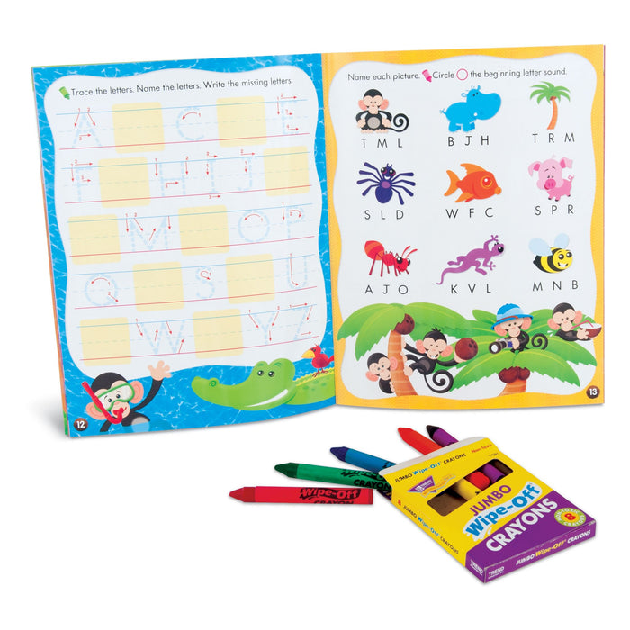 T90880 Learning Fun Pack Wipe Off Crayons
