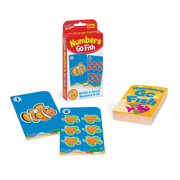 T90882 Learning Fun Pack Game Cards Numbers Go Fish