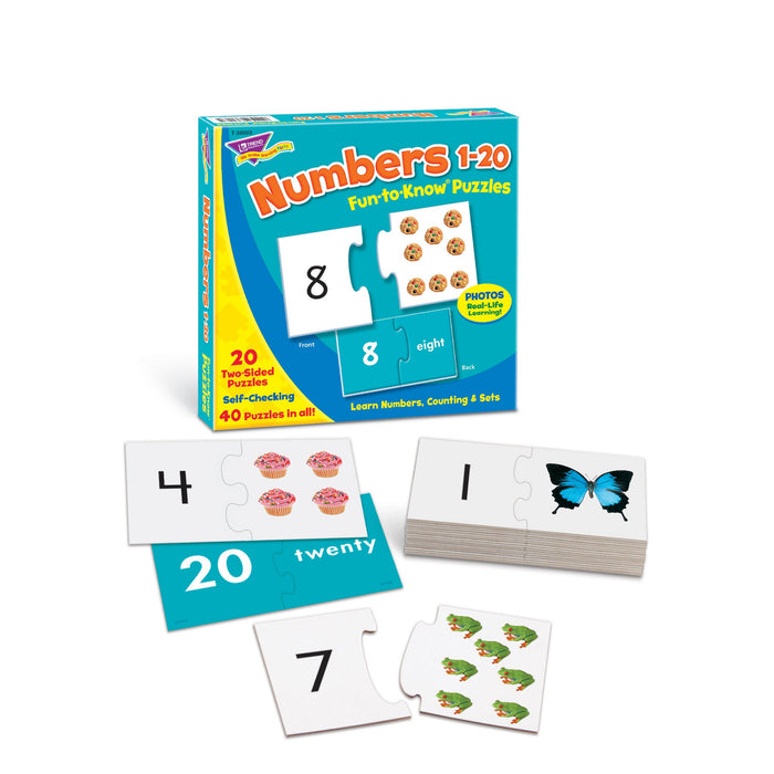 T90882 Learning Fun Pack Puzzle Numbers to 20