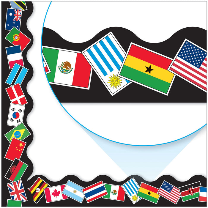 T91352 Border Trimmer World Flags