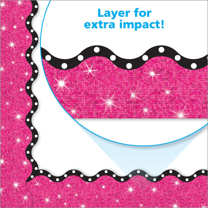 T91421 Border Trimmer Hot Pink Sparkle