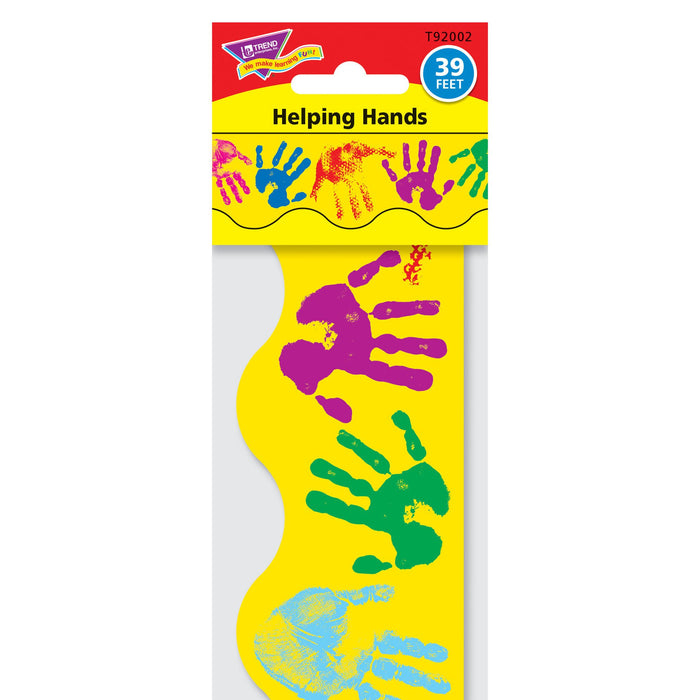 T92002 Border Trimmer Multicolor Hand Prints Package