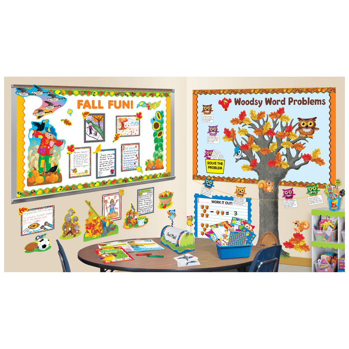 T92337 Border Trimmer Fall Leaves Autumn Classroom