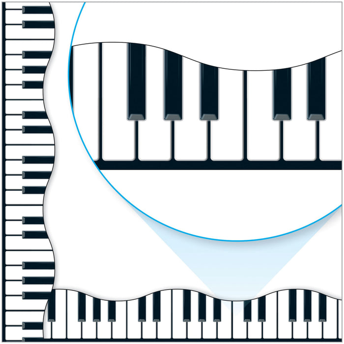 T92348 Border Trimmer Music Piano Key Board