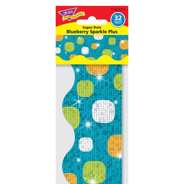 T92417 Border Trimmer Dots Teal Sparkle Package