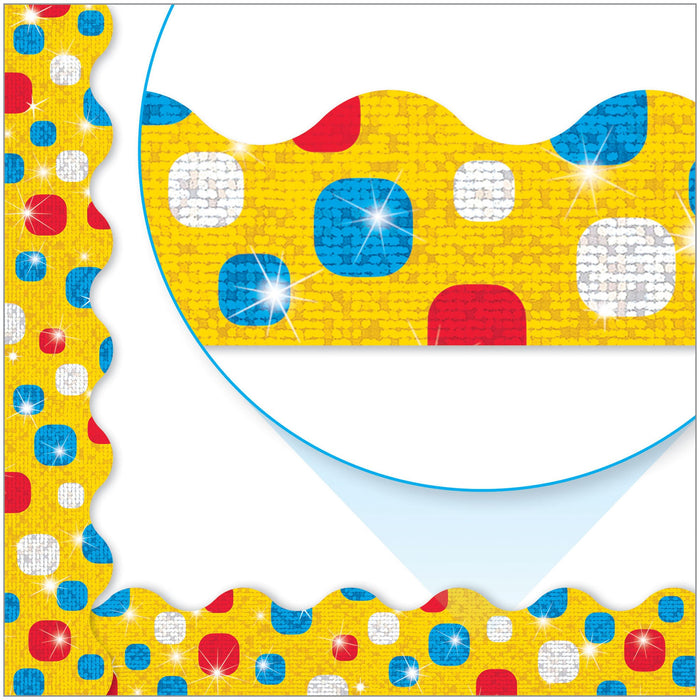 T92419 Border Trimmer Dots Yellow Sparkle