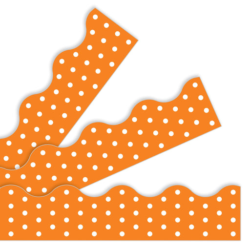 T92662 Border Trimmer Polka Dot Orange