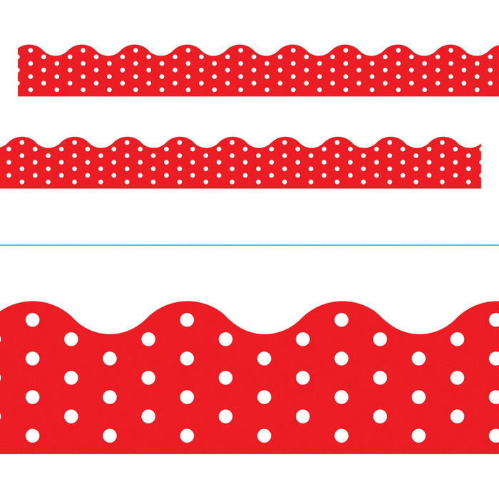 T92663 Border Trimmer Polka Dot Red