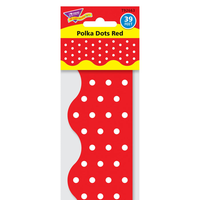 T92663 Border Trimmer Polka Dot Red Package