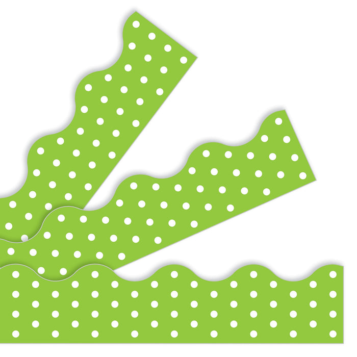 T92664 Border Trimmer Polka Dot Lime