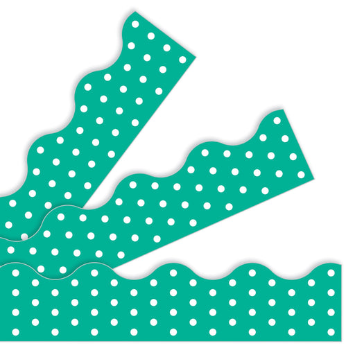 T92665 Border Trimmer Polka Dot Teal