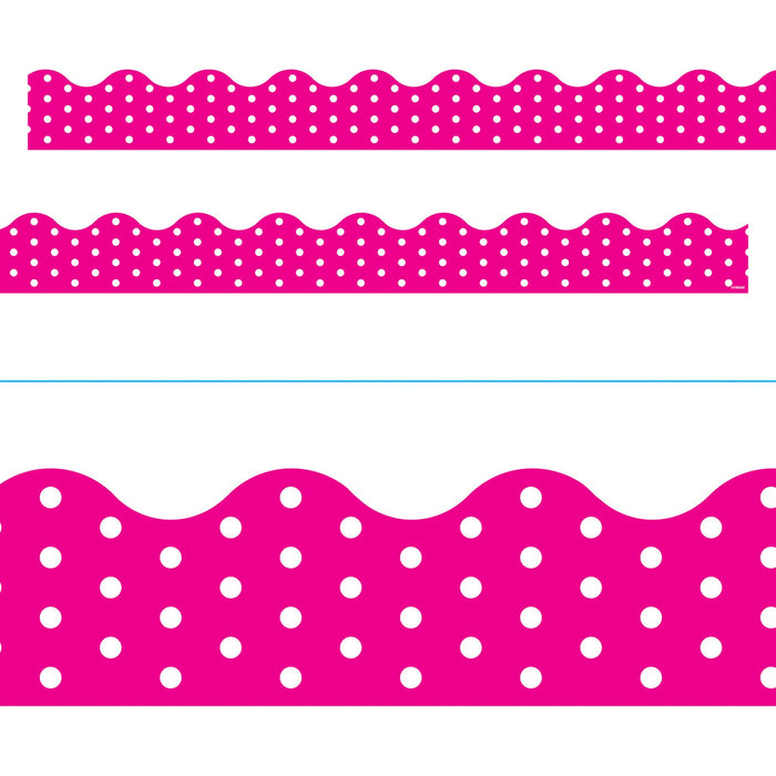 T92669 Border Trimmer Polka Dot Pink