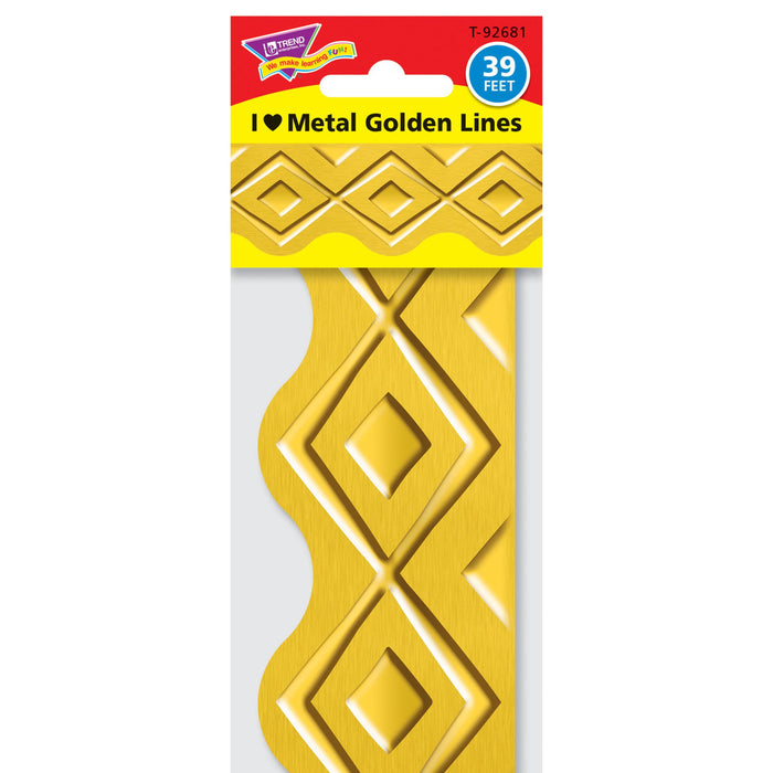 T92681 Border Trimmer Metal Golden Diamonds Package