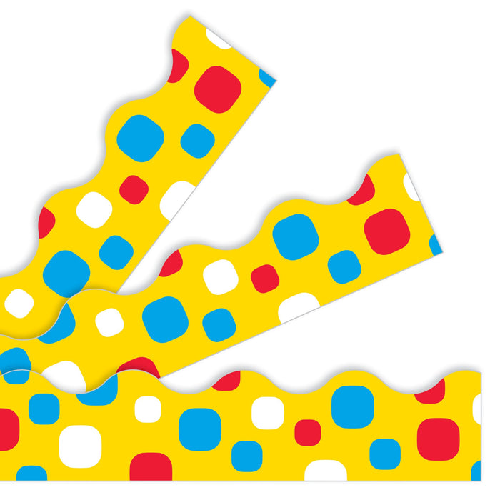 T92829 Border Trimmer Dots Yellow