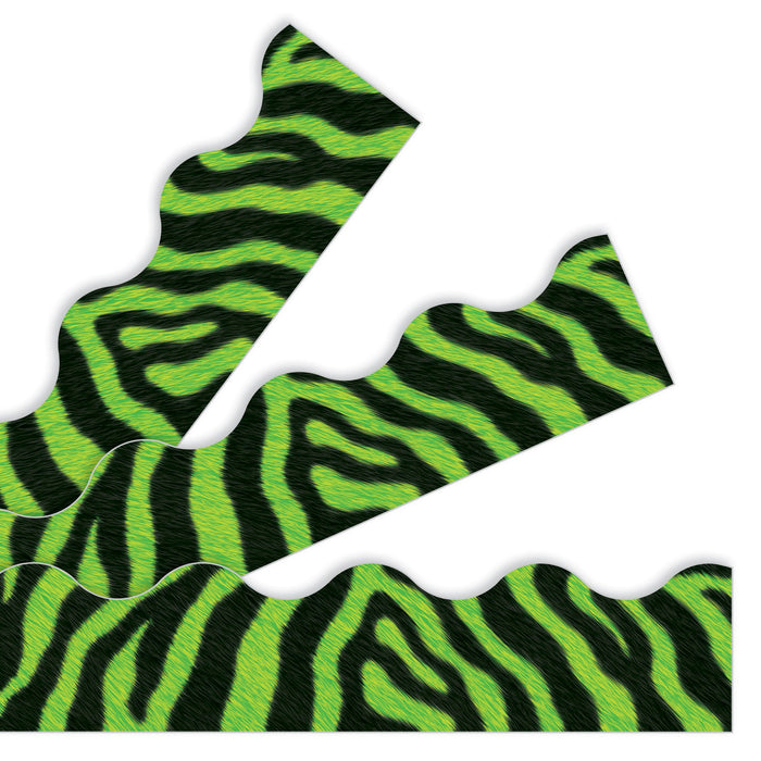 T92853 Border Trimmer Zebra Fur Green