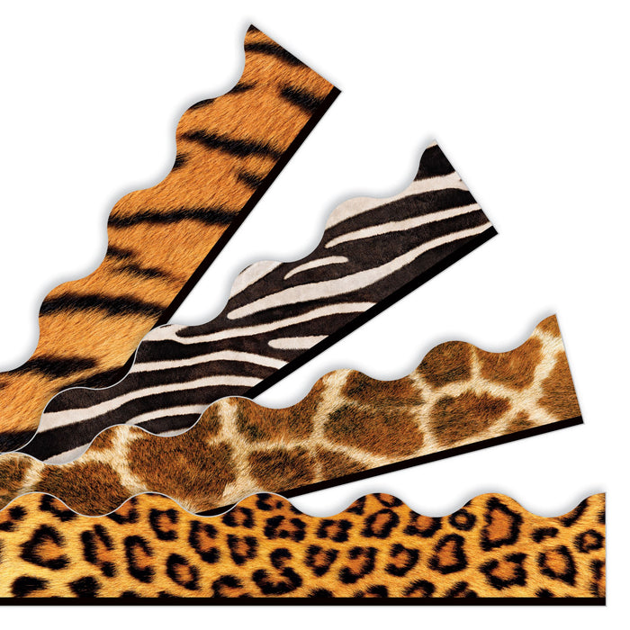 T92917 Border Trimmer 4 Pack Animal Prints