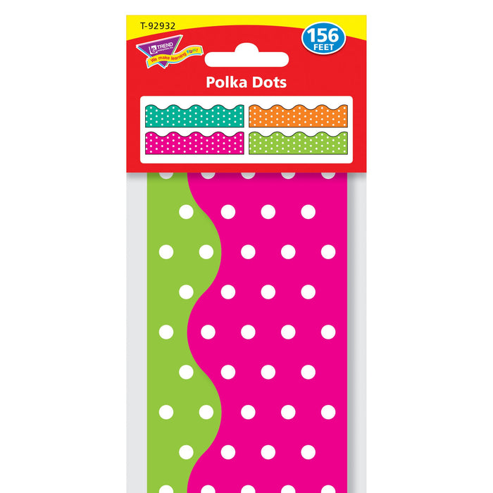 T92932 Border Trimmer 4 Pack Polka Dots Package