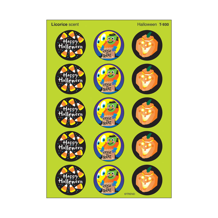 T930 Stickers Scratch n Sniff Licorice Halloween