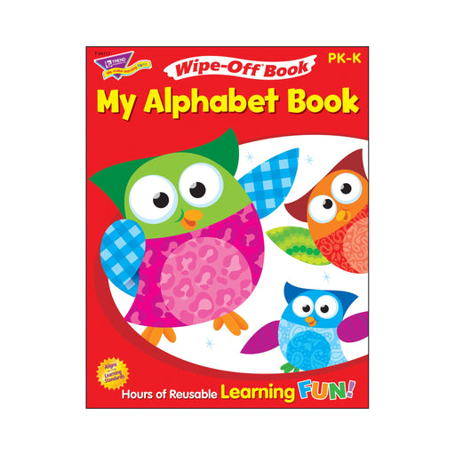 T94117 Wipe Off Book Owl Stars Alphabet Cover