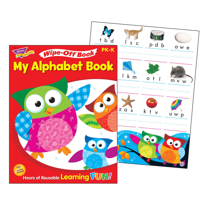T94117 Wipe Off Book Owl Stars Alphabet