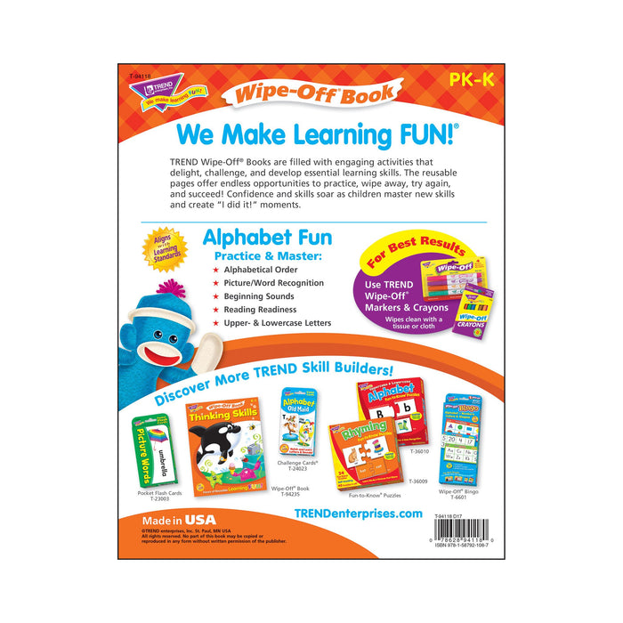 T94118 Wipe Off Book Alphabet Fun Back Cover