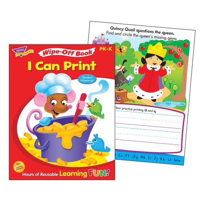 T94120 Wipe Off Book I Can Print